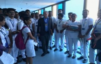 Ambassador (Designate) Jaideep Mazumdar interacting with Indian students in Davao Medical School Foundation (DMSF). Presently, about 4500 students are enrolled in the DMSF studying BS and medical course. In all, over 10,000 Indian students are pursuing BS and medical course in various colleges in the Philippines with maximum students enrolled in DMSF followed by Perpetual Dalta in Las Pinas which has about 1800 students. Significant number of Indian students are also in NCR region of Manila, Vigan, Cebu, Bicol, etc.