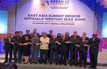 Ambassador as the SOM leader of India at the EAS SOM, East Asia Summit Senior Officials Meeting.