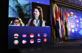 Philippine delegation participating in India ASEAN Youth Summit in Bhopal 10 Filipino youths are presently in India to participate in the India ASEAN Youth Summit in Bhopal. During the Summit, the delegates gave a presentation about their country.