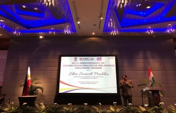 H.E Suresh Prabhu, Minister of Commerce and Industry of India addressed ASEAN -India Business Council on the sidelines of 49th ASEAN-India Economic Ministers'Meeting in Manila, Philippines on 10th September 2017.