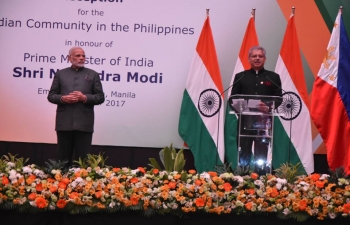 Reception of Indian Community in the Philippines in honour of Prime Minister of India. 13 November 2017