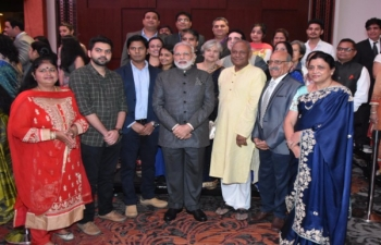 Reception group photos with PM Modi