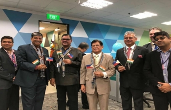 Ambassador Jaideep Mazumdar on a Visit to Iloilo inaugurated the expanded offices of HGS Philippines along with Mayor Jose Espinoza III (March 05, 2018)