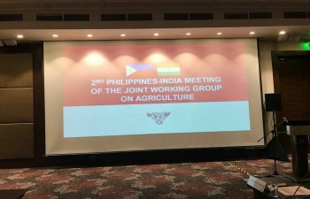2nd JWG meeting on Agriculture between India and Philippines (18 May 2018)