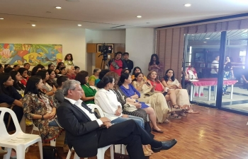 An event was organized by the Bharati Club (The Expat Indian Women's Association in the Philippines) in association with the Embassy of India, Manila to commemorate 150th birth anniversary of Mahatma Gandhi on October 5, 2018 at Ritz Towers, Makati.