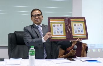 Embassy releases Commemorative Stamps on Gandhi Jayanti-Bapu@150-(2nd October 2018)