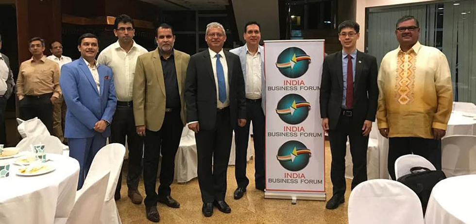 The 5th India Business Forum (IBF) meeting was held on 25 Oct 2018 under the Presidency of new President Mr. Pushkar Mishra. Ambassador Jaideep Mazumdar attended the event and is seen in the photo with Department of Finance Undersecretary Karl Kendrich Chua and members of Indian Business community in the Philippines .