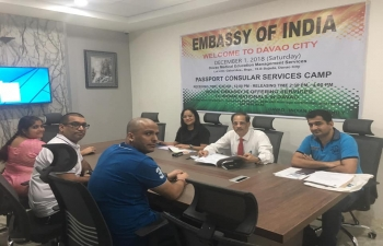 Ongoing Consular Camp by the Embassy of India in Davao City.Indian students and other members of the Indian community have gathered in large numbers to benefit from the consular services.
