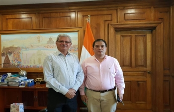 De La Salle University Professor Renato De Castro visited Ambassador Jaideep Mazumdar on 12 March 2019 to discuss important issues regarding India-Philippines relations.