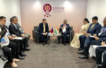Bilateral meeting of External Affairs Minister of India and Foreign Affairs Secretary of the Philippines