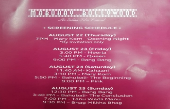 "The Embassy of India, Manila in collaboration with the Film Development Council of the Philippines, and Red Carpet Cinema, Shangri-La Plaza will be organizing ""Mabuhay Bollywood"", an Indian Film Festival from 23 to 25 August 2019 at Cinema 4, Red Carpet, Shangri-La Plaza with free admission.  For further details, kindly email us on pic1.manila@mea.gov.in or call us at 843-0101 local 515."