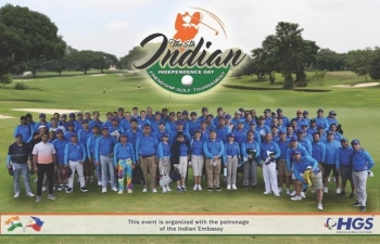 As part of the Indian Independence Day celebrations, the 5th Indian Independence Friendship Cup was organized on 16 August 2019 at the Orchard Golf and Country Club.