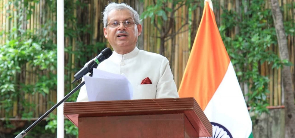 Embassy of India, Manila celebrated the 73rd Independence Day of India with great fervour. The event commenced with Ambassador hoisting the tricolor and reading the President's message which was followed by a short cultural program.