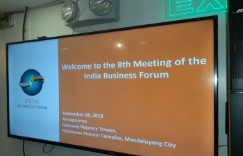 The 8th Indian Business Forum (IBF) meeting was held on 18th September, 2019 at Annapurna Restaurant, Manduluyong Metro Manila.