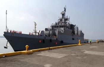 Indian ships, INS Sahyadri and INS Kiltan, visiting Manila, Philippines from 23-26  October 2019.