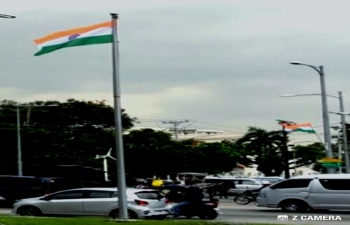 Indian Tricolor all around Metro Manila in anticipation of Hon. President of India Shri. Ram Nath Kovind's visit to the Philippines from 17 October 2019 to 21 October 2019.