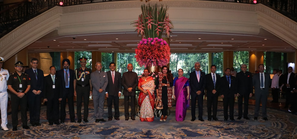 Hon'ble President of India Shri. Ram Nath Kovind with the official delegation at Shangri-La, Makati before his departure on 21 October 2019 after a successful visit to the Philippines