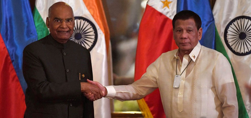 Hon'ble President Shri. Ram Nath Kovind with President Rodrigo Roa Duterte at Malacanang Palace on 18 October 2019