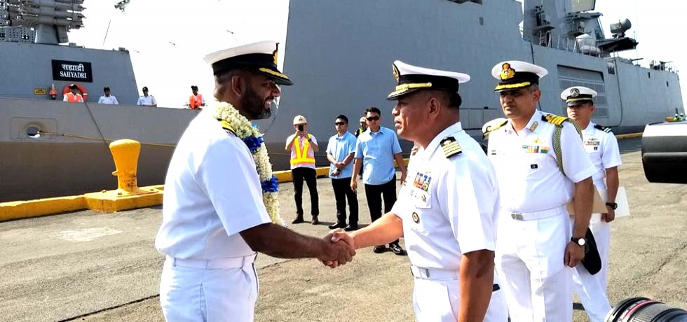 Indian Naval Ships Sahyadri and Kiltan arrived in Manila on 23 October 2019 for a three day Goodwill Visit.