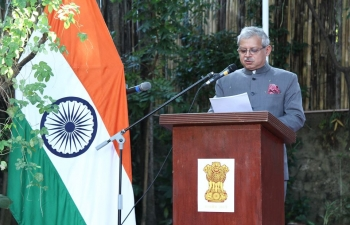 The Embassy of India, Manila organised a Flag hoisting ceremony at India House on the occasion of the 71st Republic Day of India.