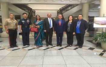 """Ambassador Jaideep Mazumdar delivered a speech at the 12th Heneral Luna Colloquium - """"Acting East: India's Role in the Indo-Pacific and Southeast Asia"""" on 10 December 2019 at NDCP Auditorium, 3rd Floor, National Defense College of the Philippines, Camp Aguindaldo, Quezon City."""