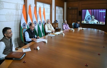 Coming together for India. PM Narendra Modi interacted with Indian Ambassadors/High Commissioners abroad & urged them to remain alert to developments in global efforts against COVID-19 including breakthroughs to help our national efforts to fight #COVID19