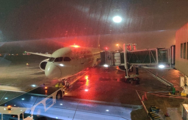 The first flight from Philippines for evacuation of Indian nationals as part of Vande Bharat Mission from Manila bound to Mumbai arrived at the Manila International Airport.