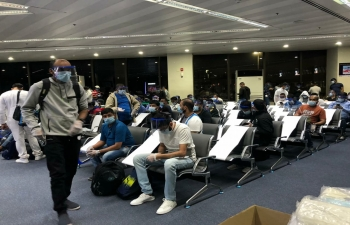 The Embassy of India, Manila facilitated the departure of the 2nd batch of 326 Indian seafarers stranded in Manila to Goa on a Charter flight PR8728 on 9 June 2020.