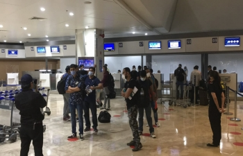 The Embassy of India, Manila facilitated the departure of 336 Indian seafarers stranded in Manila to Mumbai on a Charter flight PR8724 on 13 June 2020.