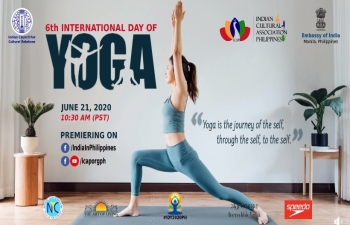 6th International Day of Yoga 2020 programme in the Philippines with this year's theme 'Yoga At Home, Yoga With Family.' Feel the healing power of Yoga and rejuvenate your body, mind, and soul.
