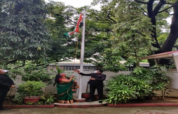 Celebration of Independence Day of India at Embassy of India, Manila ; 15 August 2020.