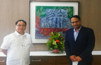 Ambassador met Mr. Danilo Concepcion, President, University of the Philippines, 30 October 2020