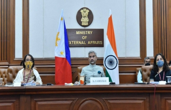 External Affairs Minister Dr S Jaishankar and Secretary Teddy Locsin Jr. co-chaired the 4th Joint Commission on Bilateral Cooperation between India and the Philippines, 6 November 2020,