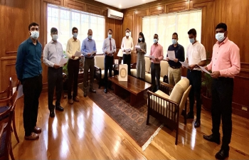 Ambassador led the Embassy officials in reading the Preamble to the Constitution of India on the occasion of Constitution Day.