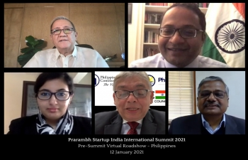 Prarambh Startup India International Summit 2021 : Pre-Summit Virtual Roadshow - Philippines