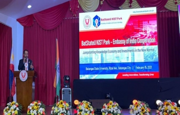 Launch of Cooperation between Embassy of India and Batangas State University.