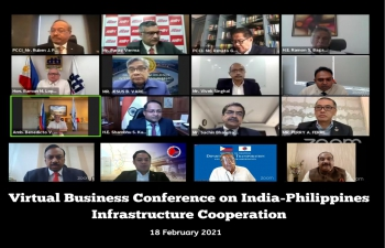 Virtual Business Conference on India-Philippines Infrastructure  Cooperation