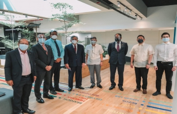 Ambassador Shambhu S. Kumaran at Philippine Chamber of Commerce and Industry (PCCI)'s Innovation Centre