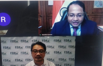Ambassador Shambhu S. Kumaran had a virtual meeting with DG, Food and Drug Administration of the Philippines