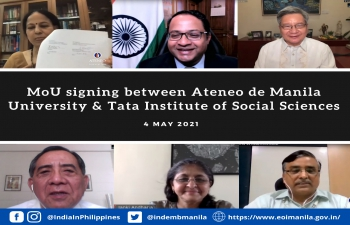 MoU between Tata Institute of Social Sciences and Ateneo De Manila University in the area of Disaster Studies