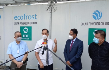 Ambassador at the launch of Ecofrost solar-powered Cold Storage System by Secretary, Department of Agriculture of the Philippines
