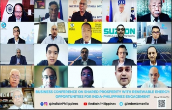 Business Conference on Shared Prosperity with Renewable Energy: Opportunities for India-Philippines Engagement